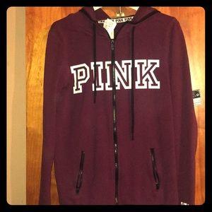 Brand new zip up VS PINK Hooded sweatshirt